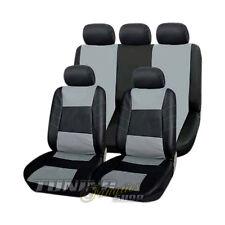 Leder Kunstleder Sitzbezug Sitzbezüge Schwarz-Grau #23 für Toyota Mazda Nissan