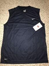 NWT Nike Womens Dri Fit Navy Sleeveless Athletic Shirt *XL*