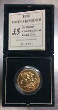 Great Britain 1996 Gold 5 Pounds Sovereign Elizabeth II Mintage-1000