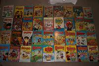Job Lot 36 Magic / Beano Book Annuals - 1950,52,55,59,60,65,66,68 & 1978 - 2002
