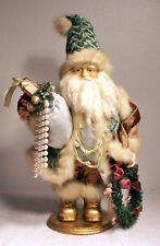 "19"" High Santa Claus Carrying Presents In One Arm & A Wreath In the Other!"