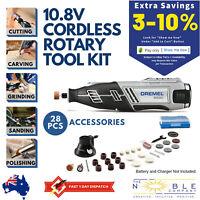 Dremel 10.8V Cordless Rotary Multi Tool Rechargeable Sander Cutter Grinder Kit