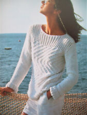 Ladies Spring Summet Sweater Jumper KNITTING PATTERN DK 32 - 36in slash neck