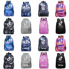 Kids Boys Girls Tik Tok Galaxy Backpack Rucksack Laptop School Students Bag Gift