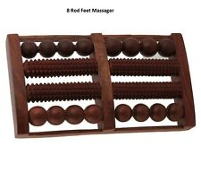 Wooden Handcarved Lifetime Foot Feet Massager With Round and Spiked Rollers