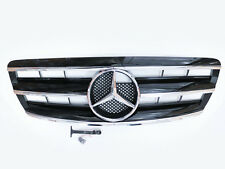 CL Black Front Sport Grille Grill  3 Fence For 03-06 Mercedes Benz W220 S-Class