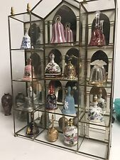 FRANKLIN MINT - THE COLLECTORS TREASURY OF BELLS -14 BELLS & DISPLAY - RARE FIND