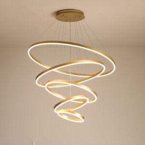 Modern Circle Acrylic Ring LED Pendant Light Living Room Chandelier Fixtures