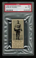 PSA 6 DUNC MUNRO Dominion Chocolate Hockey Card #57