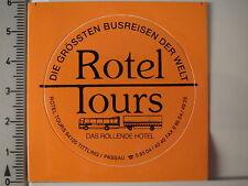 Aufkleber Sticker Rotel Tours Busreisen Das Rollende Hotel Passau Decal (3517)