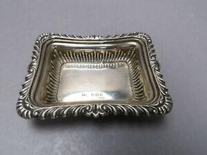 Sterlingsilber Silber William Neale Birmingham Schale WN Anker Löwe f 1901