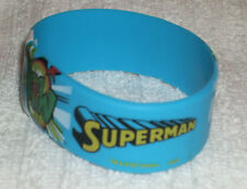 RUBBER SILICON WRISTBANDS *** SUPERMAN *** (NEW) - 25 cm - COLOUR BLUE/YELLOW