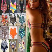 Women Bandage One Piece Bikini Monokini Push Up Padded Bra Swimwear Swimsuit New
