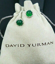 DAVID YURMAN Chatelaine Earrings with Green Onyx , 10mm Sterling Silver
