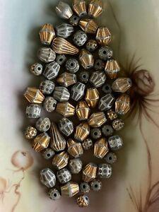 SOL600 - YEMEN - Antique Yemenite Mixture of Corrugated Beads -  (64 Pcs)