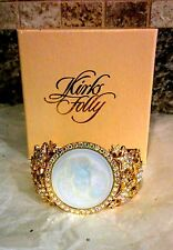 KIRKS FOLLY   DREAM ANGEL CUFF BRACELET WITH STARS   GOLD TONED  NWOT