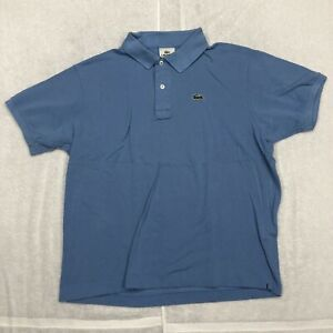 Lacoste Polo Shirt Adult Medium Blue Green Golf Rugby Casual Mens