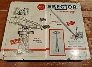 RARE 1962 Gilbert Erector Astronaut Set  Incomplete Set Parts