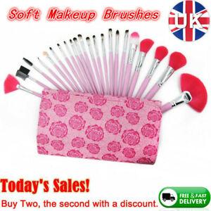 22Pcs Set Makeup Brush Beauty Contour Foundation Face Lip Brush & Free Pouch Bag
