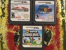 Mariokart+Super Mario DS+Super Mario Bros Nintendo DS Authentic Cleaned Tested