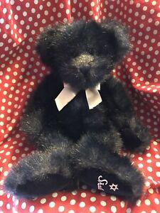 "Russ Berrie Mazel Jewish Star of David Plush Stuffed Bear Animal Toy 13"""