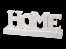 Decorazione a LED con scritta HOME 12 x 30 Bianco Plastica Idea Regalo di Alsino