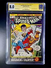 AMAZING SPIDER-MAN #111 CGC 8.0 Signed By John Romita 1972 Marvel Comics