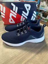 NEW FILA Men's Verso Running Training Lightweight Athletic Shoes Navy Pick Size