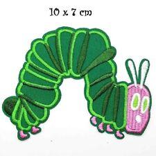 Écusson patch, CHENILLE VERTE PAPILLON, 10 x 7 cm,  Applique brodé thermocollant