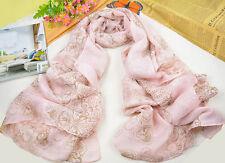 Fashion Women's Long Soft Wrap Lady Shawl Silk Leopard Chiffon Scarf