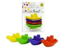 First steps 4pc baby and colourful bath boats toy for bath time fun 3 months+