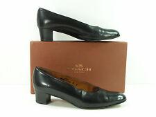 vintage coach shoes womens 6 M black pumps leather box retro fashion