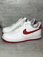 Nike AF1 Low - MENS Size 7 / WOMENS Sz 8.5 -White University Red AQ3774 - NO LID