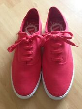 New Topman Red Canvas Shoes Size 10