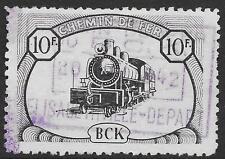 Belgian Congo stamps 1942 OBP CP23 Chemin de fer du BCK/Elisabethville départ VF
