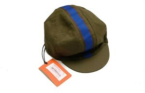 Paul Smith Cycling Cap Olive Cotton Hat Size S Small