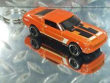 2016 Hot Wheels Orange '68 Shelby GT500 Classic Antique Custom Key Chain Ring