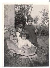 Foto Ceretolo Bologna Bimbi che giocano carretto 1925 CB573