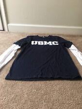 Marines USMC Men's 2-in1 Attached T-Shirt Sz M Shirt Top MultiColor Clothes