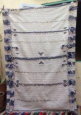 Unusual Moroccan Handira wedding blanket 180 x 125cm