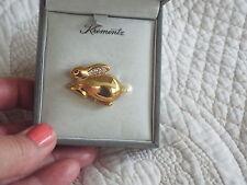 Krementz Vintage Signed Bunny Pin & Original Box