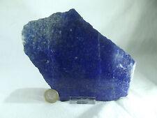 Lapislazuli Platte Anschliff Rohstein blau 1232g