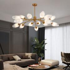 Ice Block Brushed Brass Mid Century Ceiling Light Fixture Modern Pendant Lightin