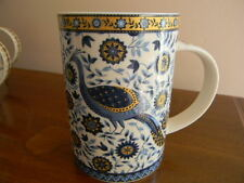 Stunning Blue & Gold Peacock Mug by Queen's Churchill fine china Udai Palace NEW
