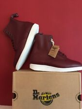 Dr MARTENS Whiton Softy T Leather Women's Boots Cherry Red Size Uk 4 BRAND NEW