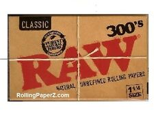RAW 300's Natural Unbleached Cigarette Rolling Papers 1 1/4 (PACK IS 300 SHEETS)