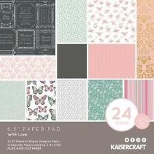 Kaisercraft 'With Love' Paper Pad 6.5 x 6.5 scrapbook paper