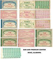 BOAZ, AL San Ann Premium Center Savings Stamps Booklets (9) + Stamps