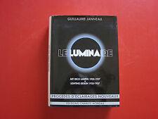 LIVRE LE LUMINAIRE ART DECO GUILLAUME JANNEAU