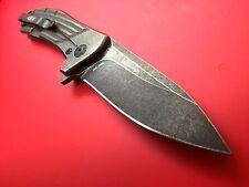 Zero Tolerance  ZT801BW Knife with Elmax or S35vn Blade Blackwash ZT 0801BW
